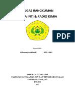 Tugas Rangkuman Kimia Inti Alfonsus Andries K. 062116061