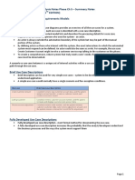 Ict2622 Object-Oriented Analysis Summary Notes Phase Ch 5 - Satzinger Jackson Burd 6th Ed