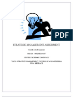 Strategy Management Assignment