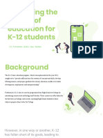 Improving the quality of education for K-12 students