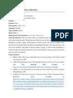 Introduction to Literature-Course Description