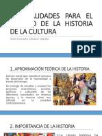 1. Generalidades Para El Estudio de La Historia
