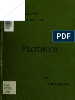 G.R.S. Mead - Plotinus - the Theosophy of the Greeks - 1895