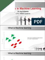 Advances in ML
