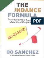 The Abundance Formula by Bro. Bo Sanchez