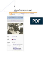 Golpe de Estado en Venezuela de 1958