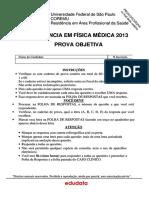Prova de Residencia Unifesp Fisica Medica