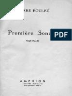 Boulez - Piano Sonata No. 1