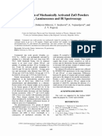 Characterization of Mechanically Activated ZnO Powders by Raman, Luminescence and IR Spectroscopy