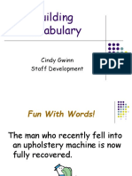 Building Vocablulary Ppt