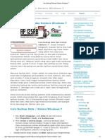 Cara Backup Data Dan Restore Windows 7