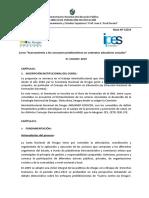 Curso 2019 - Acercamiento a Los Consumos Problemáticos en Contextos Educativos Actuales
