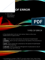 19005_Types of Error