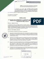 iniciativa legislativa para Declarar en Emergencia la Carretera Central