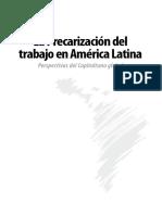 Livro LA PRECARIZACION DEL TRABAJO EN AMERICA LATINA Org 2009.pdf