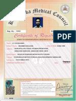 KMC Registration Certificate
