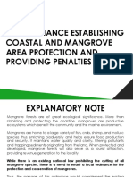 Proposed Ordinance for the Protection of Mangroves