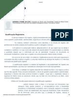 Qualificação Registral