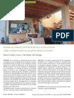 Resiliencia Urbana y Ambiente Térmico en La Vivienda