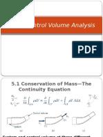 5. Finite Control Volume Analysis