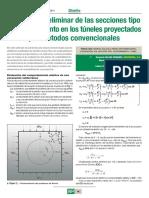 Diseño Preliminar de Sostenimiento en Tuneles, Proyectados Por Sostenimiento Natural - Kirsch