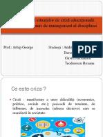 Managementul-situa Iilor-De-criz -Educa Ional