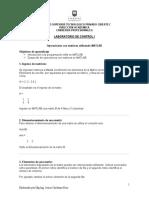 Guía N 1 Operaciones Comandos MATLAB