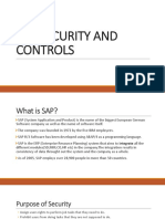 Sap Security and Controls
