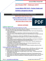 Current Affairs Pocket PDF - February 2019 by AffairsCloud