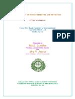 Acharya NG Ranga Agricultural University Food Chemistry of Macro-Nutrients Notes.pdf