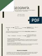 Geografía presentación