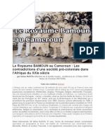 Le Royaume BAMOUN Au Cameroun