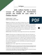 Cultura Digital Cultura Hacker e Novas Formas