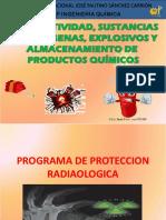 Radioactividad, Explosivos, Sustancias Tóxicas