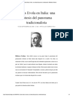Julius Evola en Italia- una sintesis de... tradicionalista | Biblioteca Evoliana