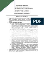 Macroeconomia 1.2019 Universidade de Brasília