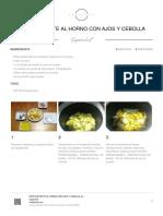 Patatas Ratte Al Horno Con Ajos y Cebolla
