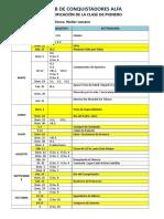 Plan de Clases Progresivas 2019 Club de Conquistadores ALFA