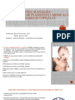 Jubea Si Balan Asistentei Medicale Acordate Mamei Si Copilului