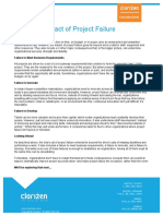 Brief the Total Impact of Project Failure