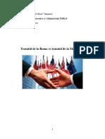 Tratatul de La Roma vs Tratatul de La Maastricht