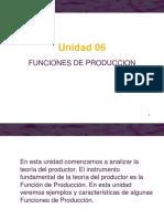 Unidad 06. Teoría Del Productor. Funciones de Producción