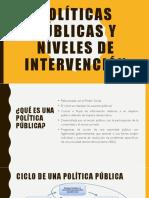 Políticas Públicas y Niveles de Intervención Clase 7