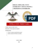 INFRACCION TRIBUTARIA informe