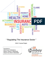 Project report - Regulating the insurance sector in India