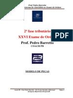 Modelo de Peças 2ª Fase Tributario Exame de Ordem Gratuito
