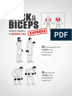 Back and Biceps Express Workout