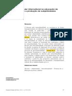 O Discurso Curricular Intercultural - Carvalho