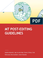 MT Post Editing Guidelines