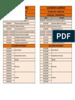 8. Calendario académico